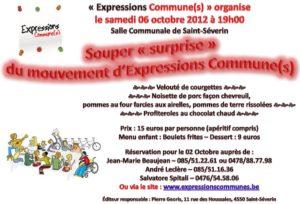 Souper surprise d'Expressions Commune(s) le sameid 6 octobre 2012